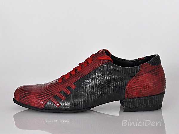 Men's sporty tango shoe - Red & Black